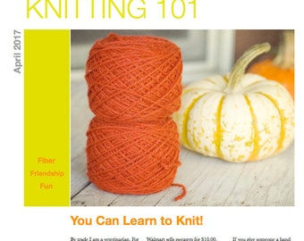 Knitting 101; a 10 page PDF to Get You Started Knitting