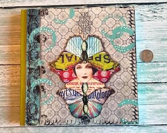 Mixed Media Art Journal Double Butterfly Blank Notebook