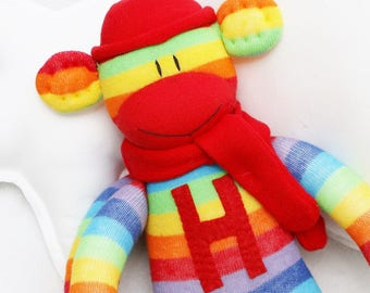 Initial Patch Personalized for your Sock Monkey Doll
