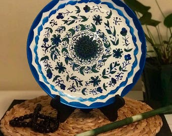 Hand-painted simple touch of nature  decorative plate