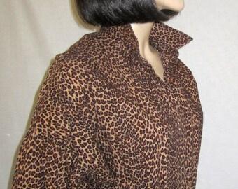 1980's Norma Kamali Leopard Printed Jumpsuit