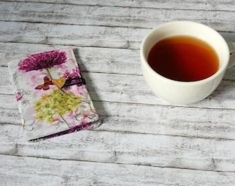 Tea holder - Tea bag wallet - Travel tea container - Tea caddy - Tea bag storage - Tea envelope - Tea wallet - Valentine - Gift for her