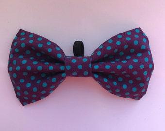 Polka Dot Dog Bow Tie