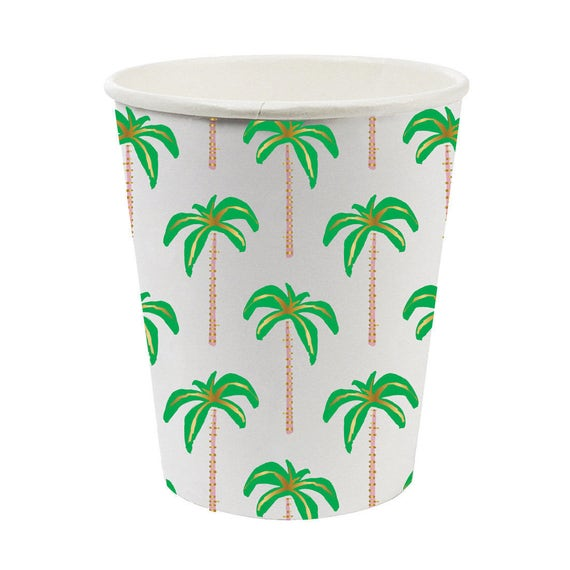 Set of 8. Palm tree print party cups. Tropical party cup. Luau tableware. Beach party cups. Palm tree cups. from thepartydialect on Etsy Studio  sc 1 st  Etsy Studio & Palm tree paper Cups. Set of 8. Palm tree print party cups. Tropical ...