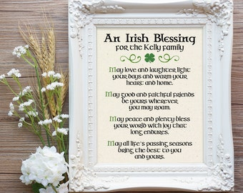 Irish blessing sign etsy