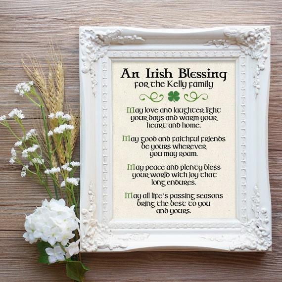 Irish Wedding Blessing Gifts: Irish Blessing Print Irish Christmas Gift Irish Prayer