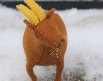 Nutmeg Felt Goat