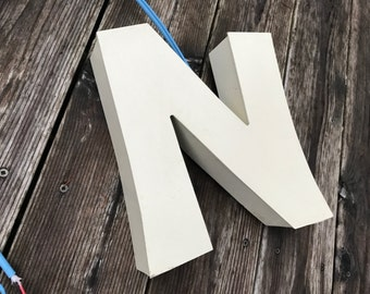 N - Reclaimed Metal letter - HALO - LED