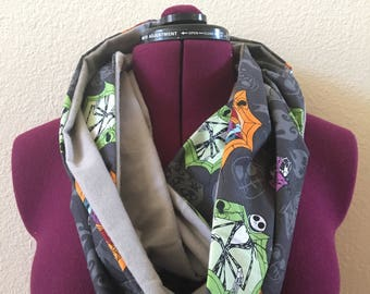Nightmare Before Christmas Infinity Scarf