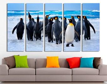 Penguins, Penguins art, Penguins canvas, Penguins photo, Penguins wall art, Nursery wall art, Arctic canvas, Arctic wall art, Arctic photo