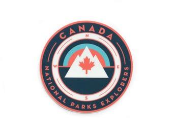 Canada Maple Leaf National Parks Vinyl Sticker