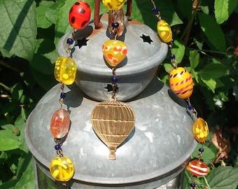 Sunshine Hot Air Balloon Necklace