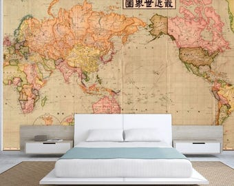 World map wallpaper antique world map wall mural vintage world map wall mural old map wallpaper vintage old map mural self gumiabroncs Image collections