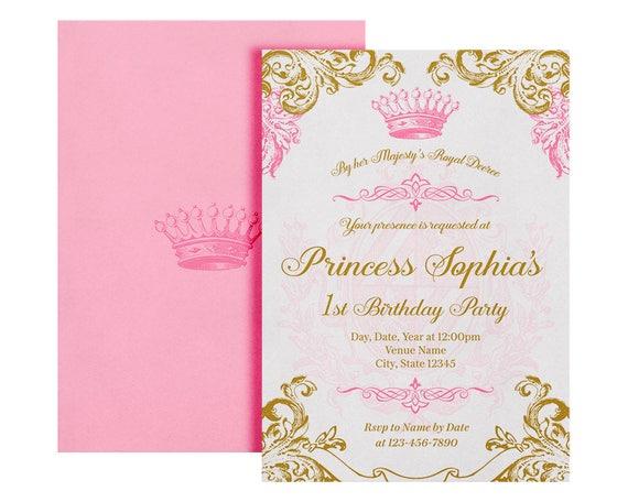 Royal Princess Invitation Printable Royal Princess Invite