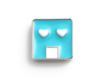 Bule Face Floating Charms for Living Lockets, Glass Memory Lockets