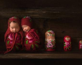 Russian doll digital backdrop