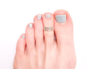 Silver Toe Ring, Sterling Silver Toe Ring, Adjustable Toe Ring, Thick Toe Ring, Midi Ring, Summer Ring, Toe Rings