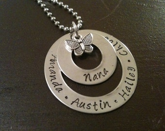 Hand Stamped Jewelry Charm Mother's Necklace Pendant Inspirational