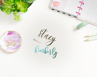 Planner Name Decal