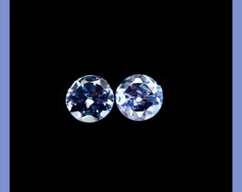 TANZANITE (35873) * * *  PAIR (2 Gems)  3mm Light Blue - Tanzania Mined - Faceted
