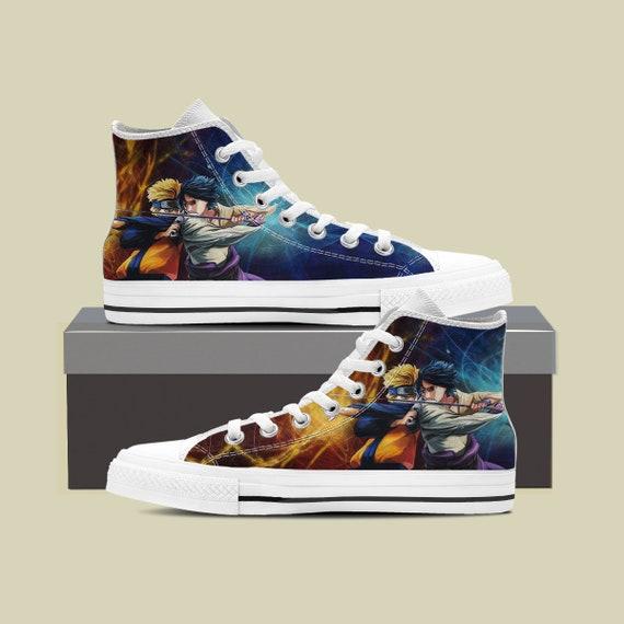 Naruto Uzumaki Custom Anime Shoes Naruto Custom Custom Sasuke Sneaker Naruto Naruto Shippuden Custom Top Shoes Custom Converse High zTxaXZ