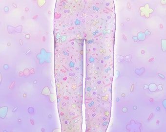 "Pink ""AlpacaCorn Fluff"" Joggers Sweatpants"