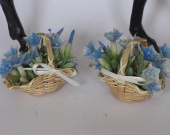 LSQ Blue wicker basket set Breyer Peter Stone model horse props