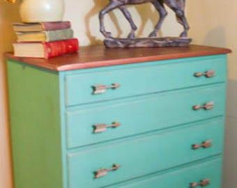 Painted Green Dresser