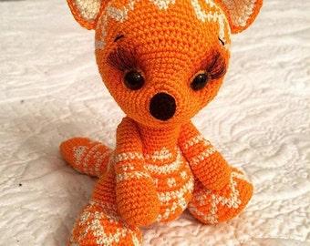 Amigurumi crohet mini fox