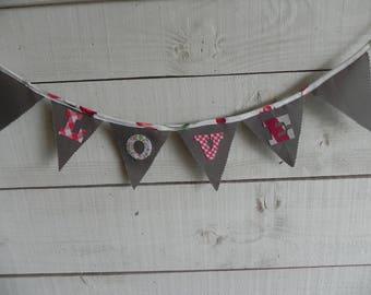 Valentine fabric GARLAND