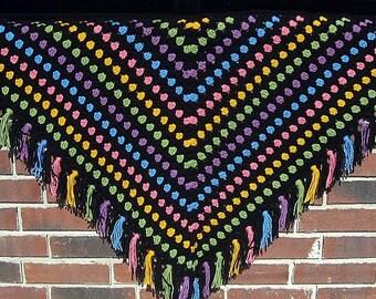 PDF Pattern Crocheted Shawl -- BEJEWELED SHAWL