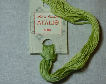 Stranded ATALIE Anis color embroidery thread