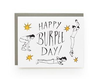 Burpee Day - letterpress card