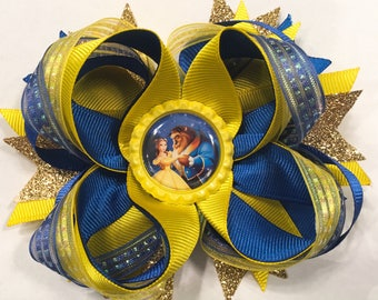 Beauty and The Beast Stacked Boutique Bow