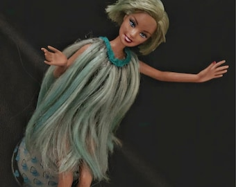 Lady Gaga Teal Hair Dress Barbie