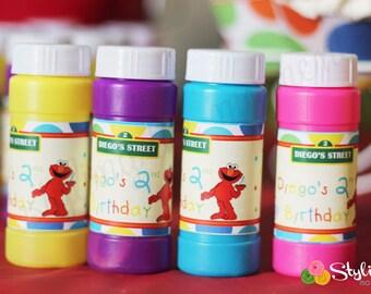 Elmo Bubble Labels