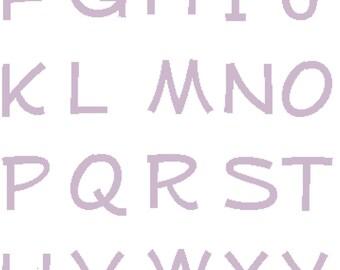JUMBO Alphabet Cross Stitch Sampler with capital case letters. monogram decoration for nursery