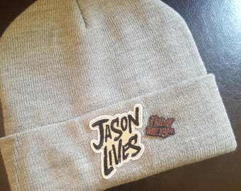 Only 2 in Stock!!! Free Shipping; Jason Voorhees; Friday the 13th beanie; Camp Crystal Lake
