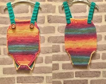 Rainbow Romper - Crochet pattern