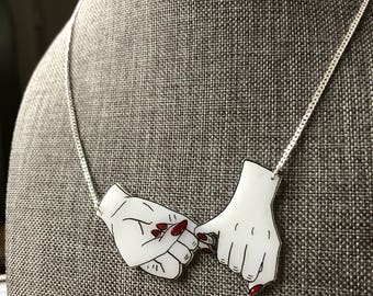 Pinky Promise Charm and Necklace