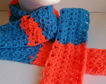 Bright crocheted scarf
