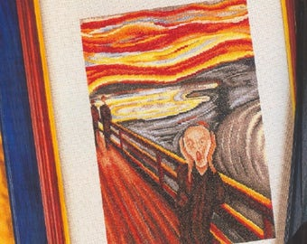 1 + 1 CROSS stitch, PATRON The scream. · Edvard munch. Famous cross stitch pictures. GIFT the infanta margarita