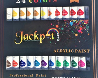 Acrylic Paint Set-24 Color with 2 Brushes