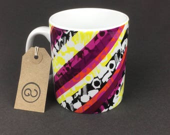 Beautiful, stylish and utterly unique 'BOLTR' ceramic coffee mug. By The Good Continuation Design Company.