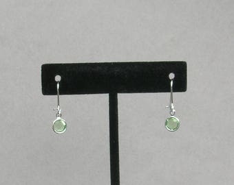 August Birthstone- Peridot Drop Earrings