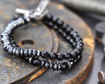 Men's bracelet, bracelet for men, men's bracelets, gift for men, mens stretch bracelet, husband gift, gift for him, mens gift, mens jewelry