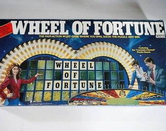 Vintage Wheel of Fortune game - by Pressman Toy Corp. - word game, fun family night game, TV show game, Pat Sajak, Vanna White, classic