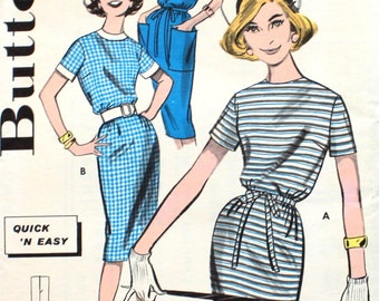 Quick 'N Easy Dress Bust 34 Butterick 9593