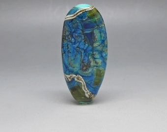Almost Chrisocolla - Lampwork Focal Bead