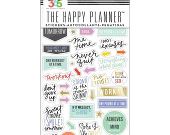 Fitness Sticker • Create 365 Planner Stickers 5 Sheets/Pkg (PPS-64)